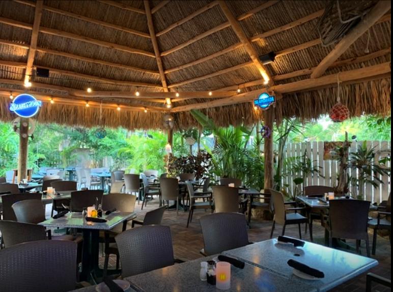 The Tiki At Lazy Lobster Seafood Restaurant Key Largo FL